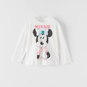 NWT 3-6 month Zara Minnie Mouse Disney shirt